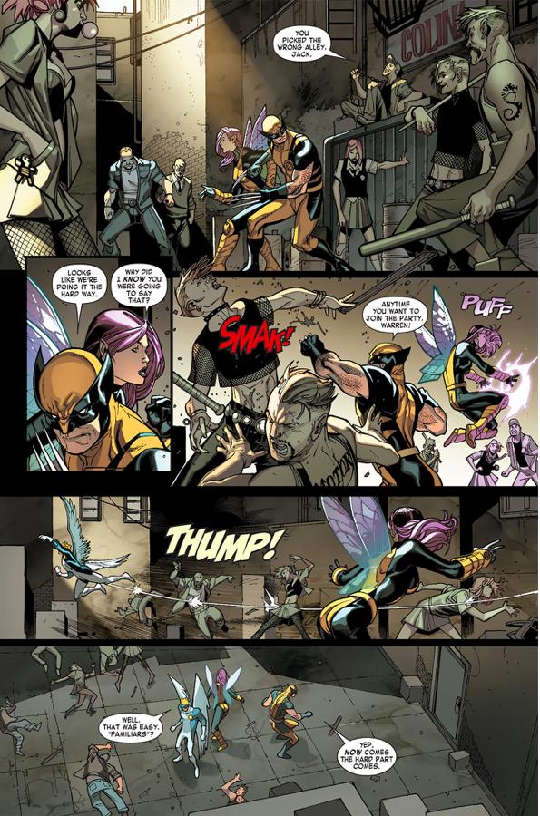 Wolverine, Angel And Pixie VS Vampires