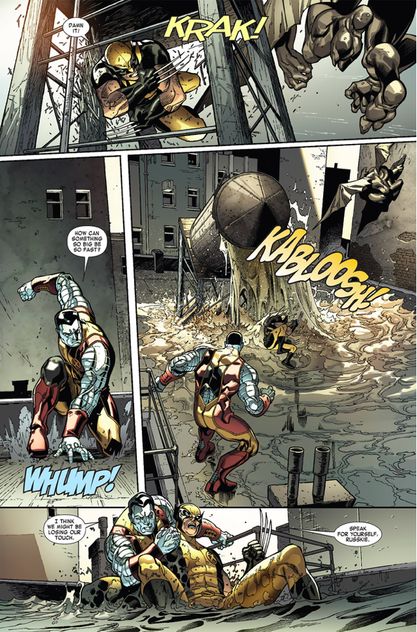 Wolverine, Colossus And Storm VS A Vampire