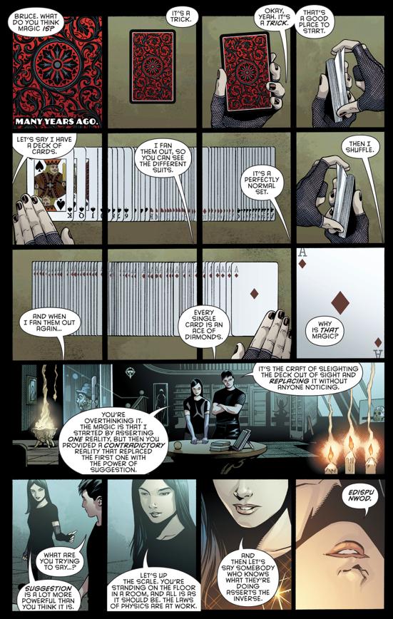 Zatanna Explains Her Magic To Batman (Rebirth)