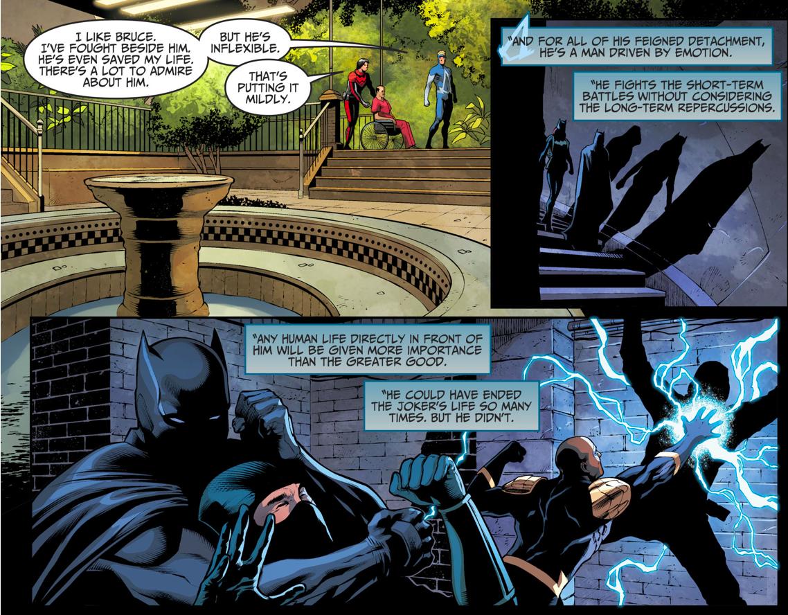Animal Man Describes Batman's Problem (Injustice II)