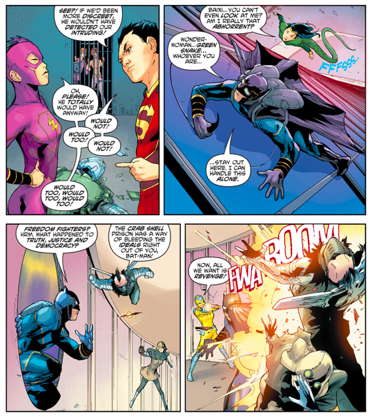 Chinese Bat-Man Kisses Chinese Wonder Woman