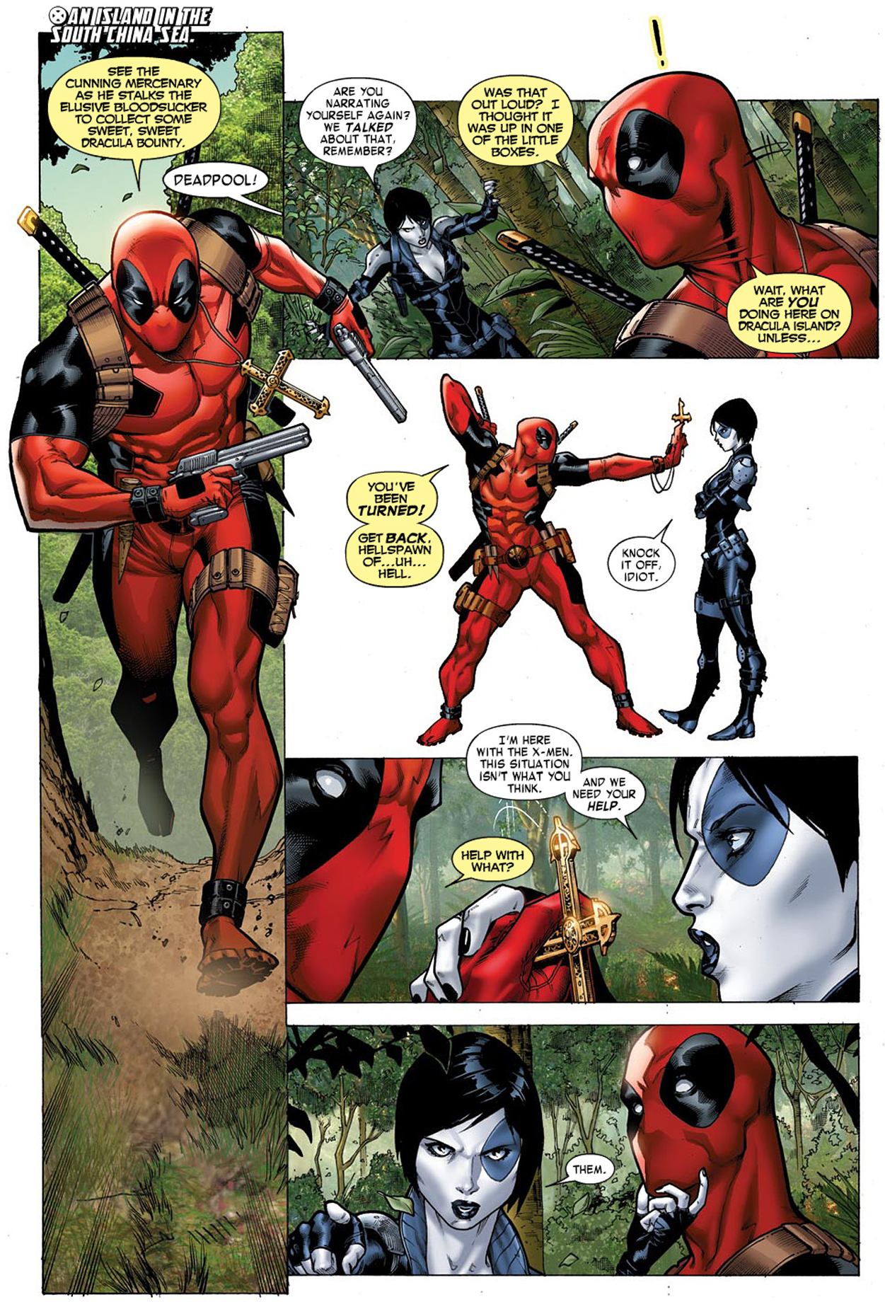 Deadpool Narrating Himself