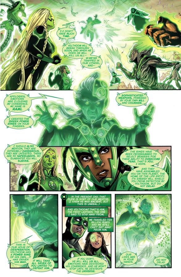 The 1st 7 Green Lanterns Meet Each Other
