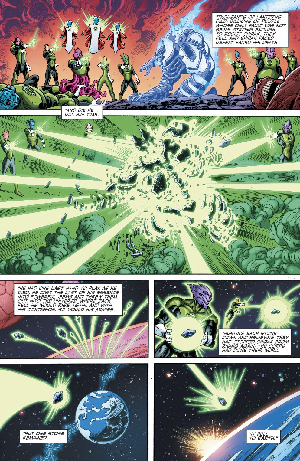 The Green Lantern Corps Defeated Shirak