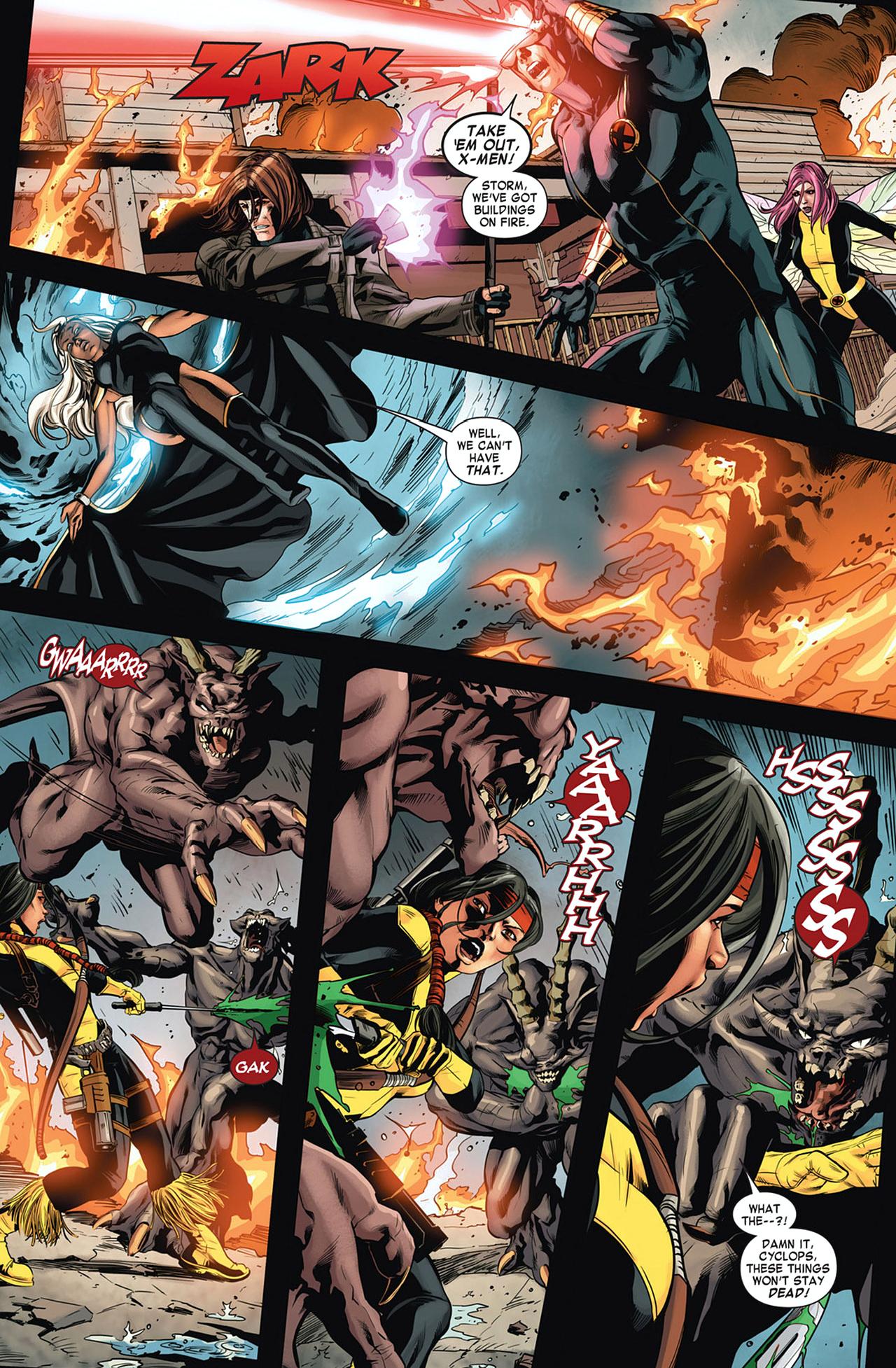 The X-Men And Ghostrider VS The Atahsaia