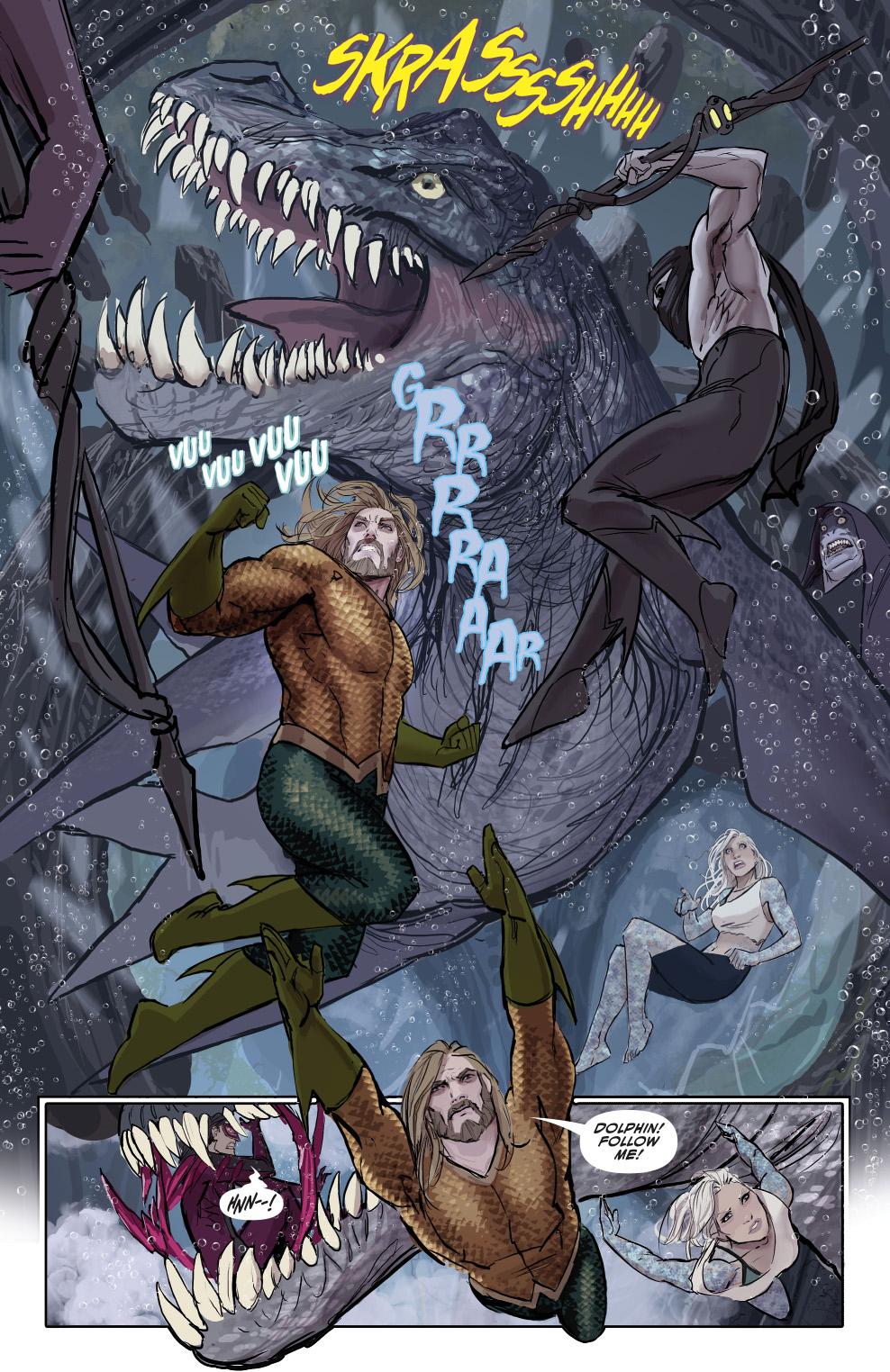 Aquaman And Dolphin (Aquaman Vol 8 #27)