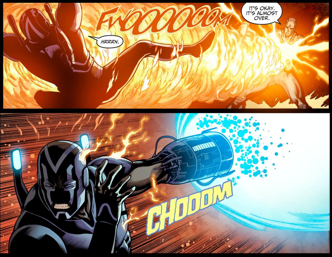 Blue Beetle Kills El Diablo (Injustice II)