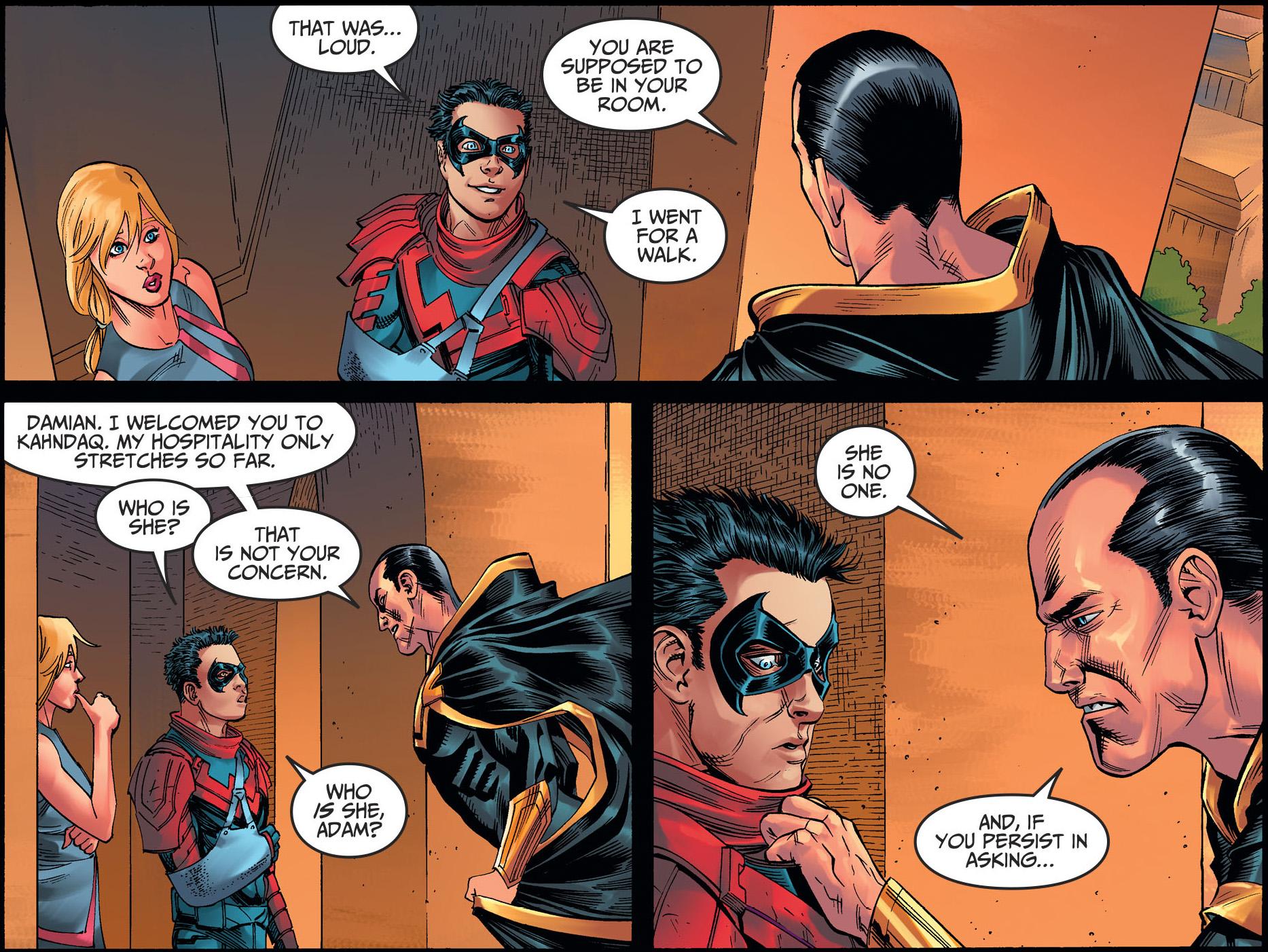 Damian Wayne Meets Supergirl (Injustice II)