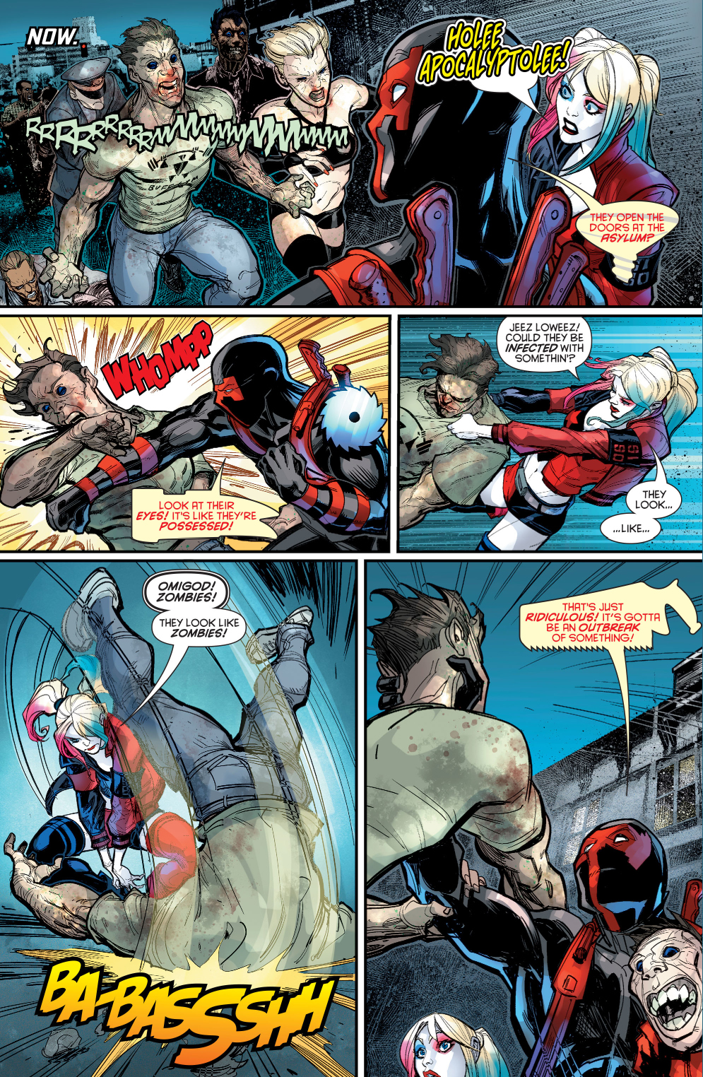 Harley Quinn And Red Tool VS Zombies