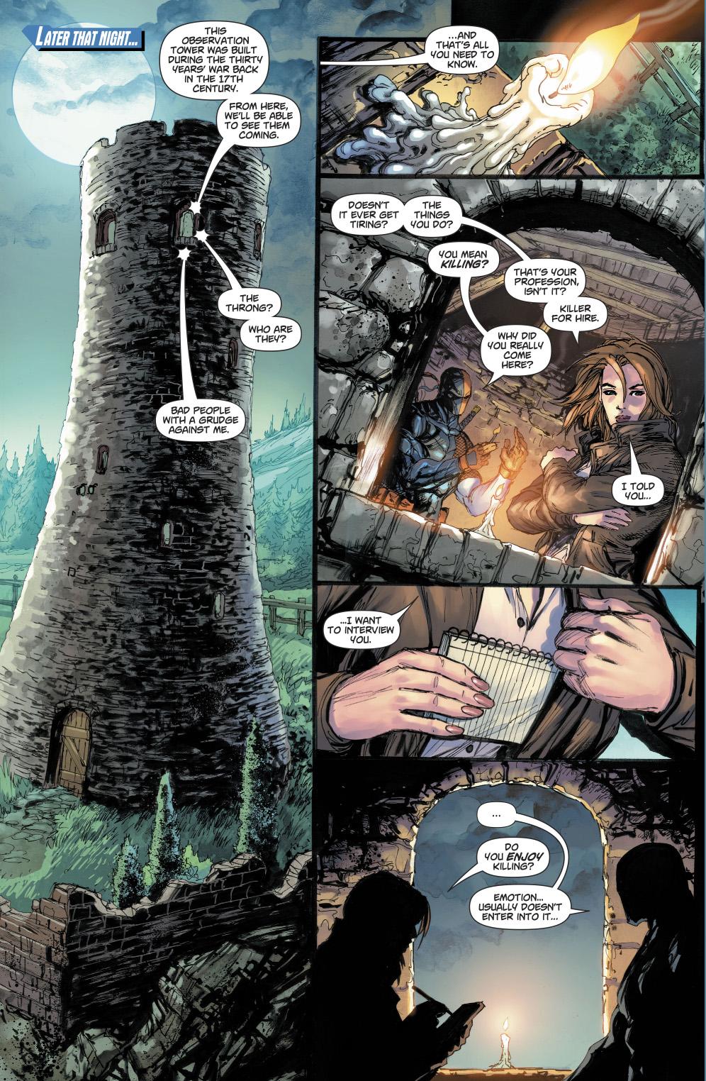 Lois Lane Interviews Deathstroke