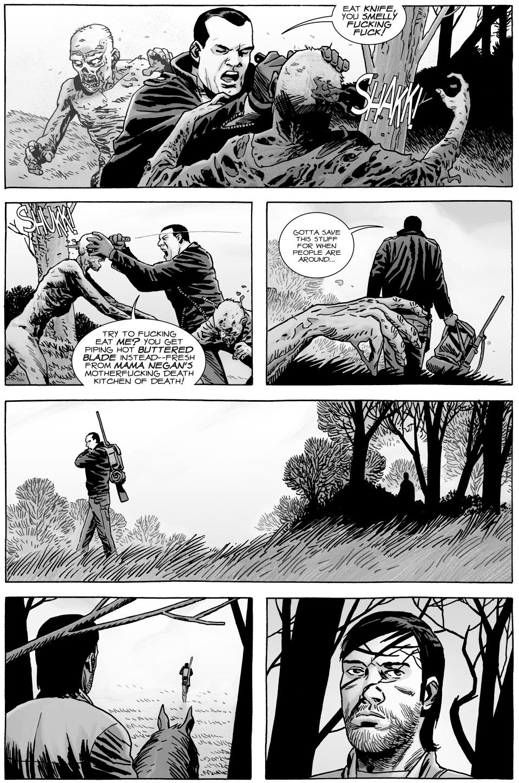 Negan Visits Lucille's Grave