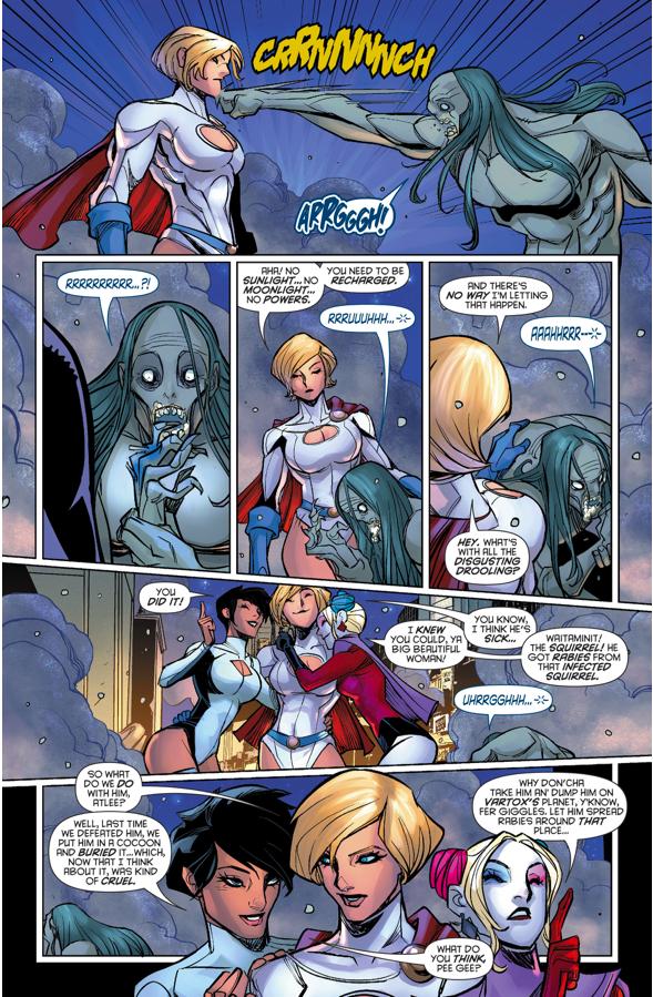 Power Girl VS Zorcrom