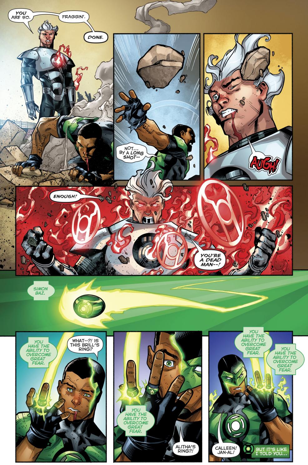 Simon Baz Earns 4 Green Lantern Rings
