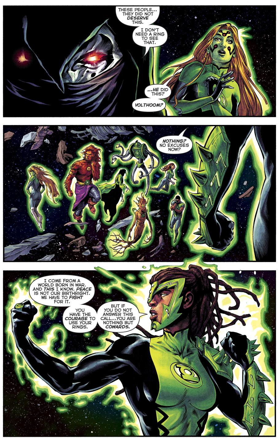 The 1st 7 Green Lanterns Learn The Green Lantern Oath