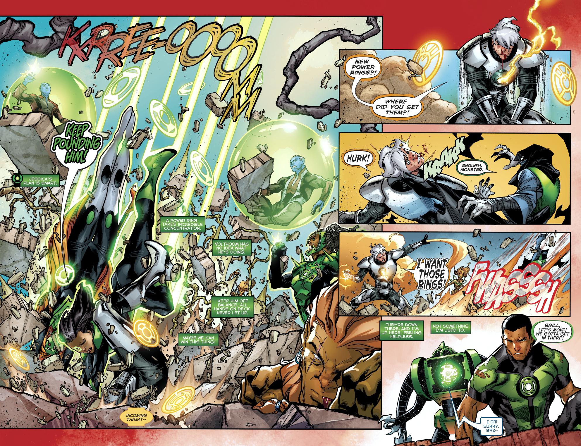 The 1st 7 Green Lanterns VS Volthoom
