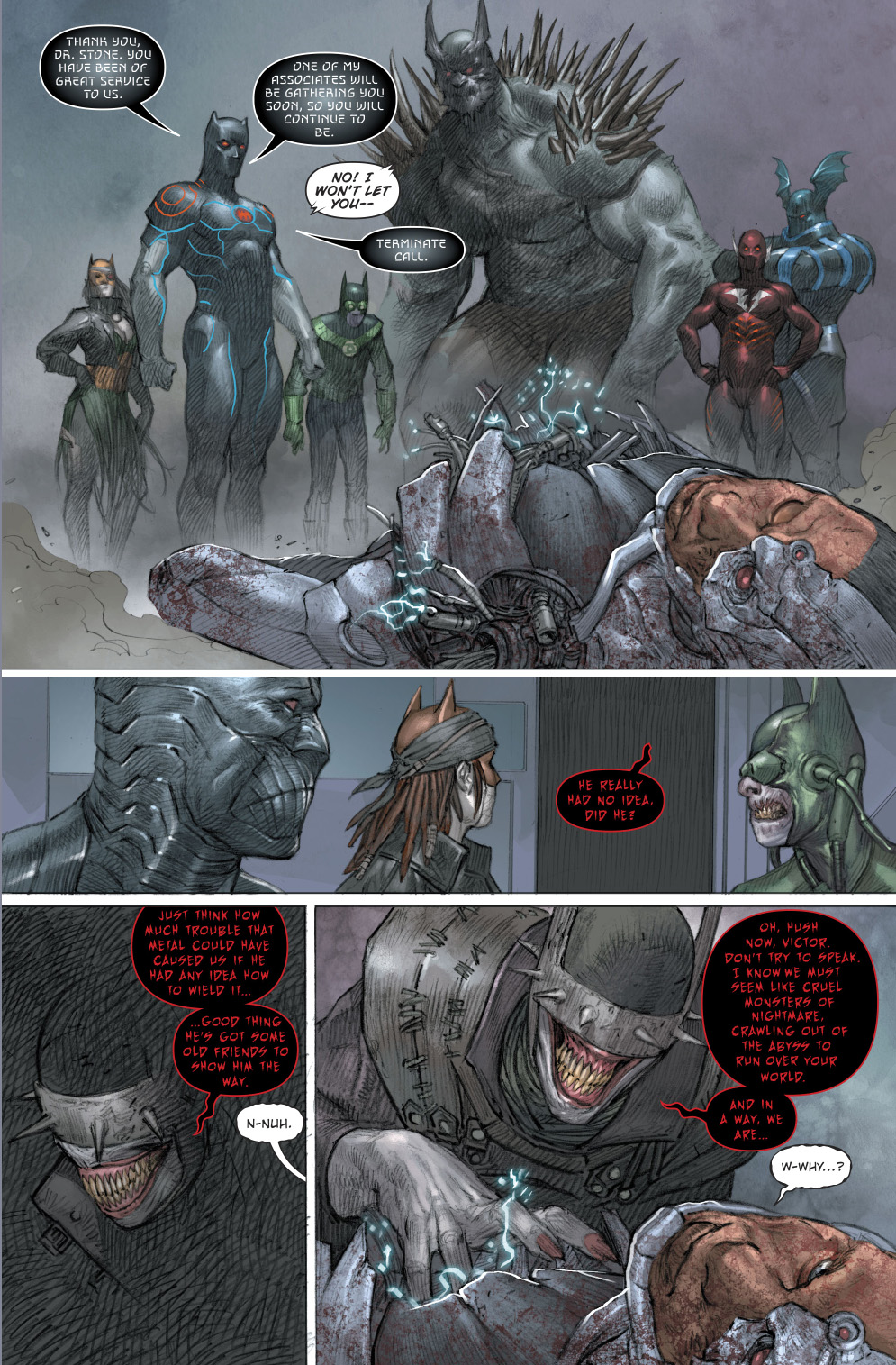The Dark Nights Defeats Cyborg