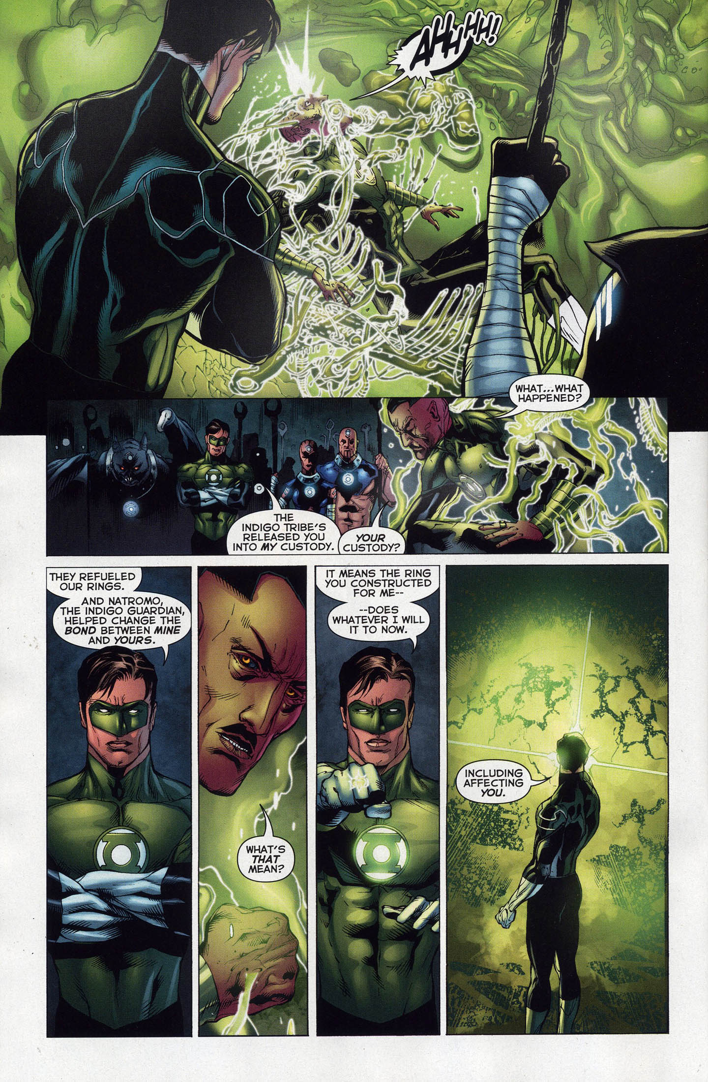 How Sinestro Was Freed From An Indigo Ring
