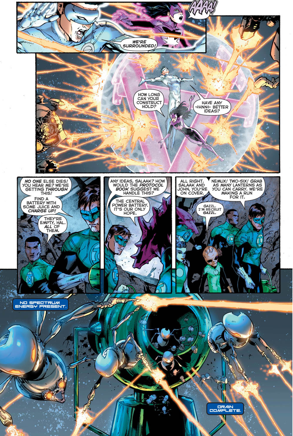 Relic Destroys The Green Lantern Central Power Battery 0