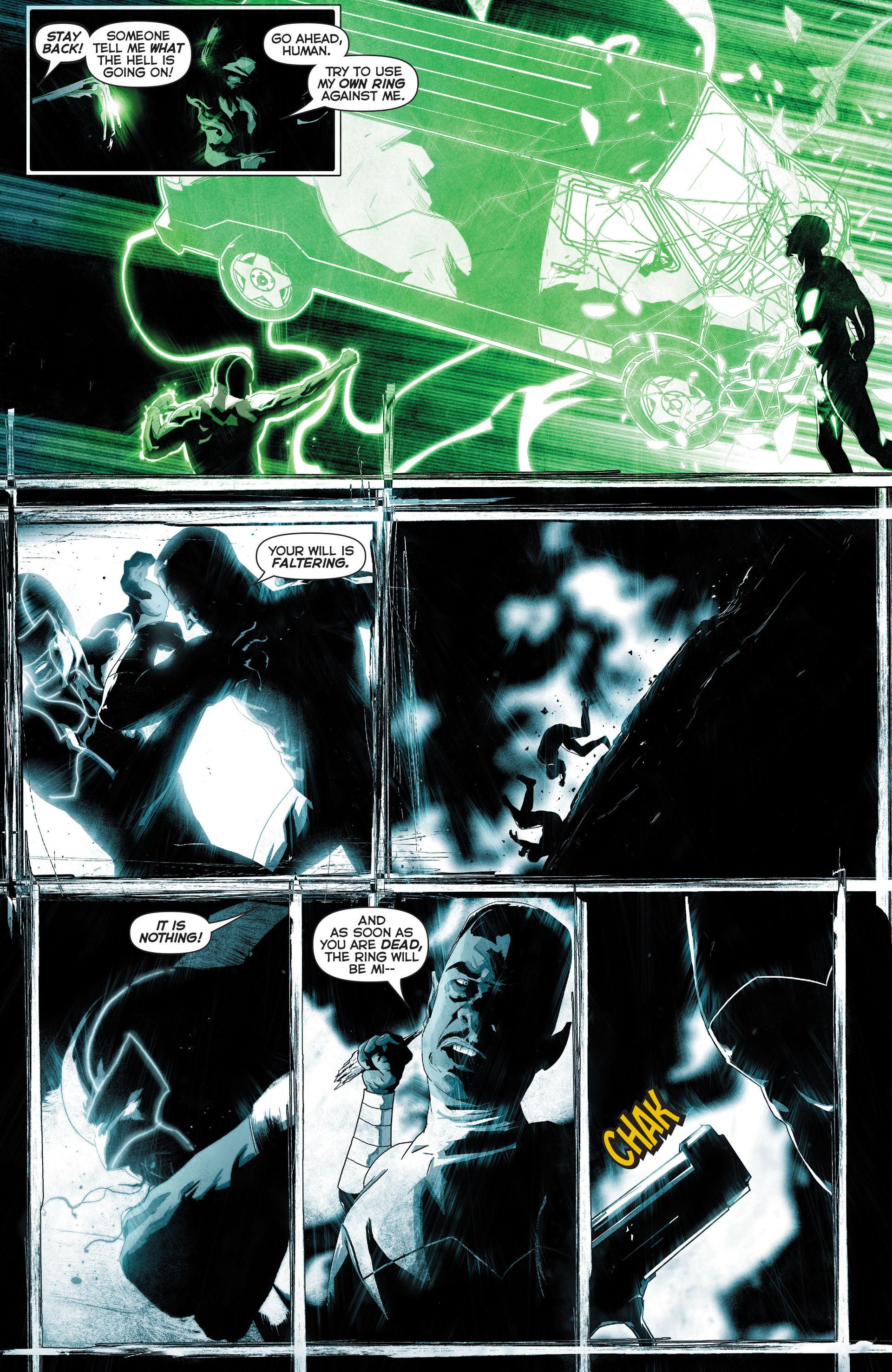 Simon Baz Shoots Sinestro With A Gun
