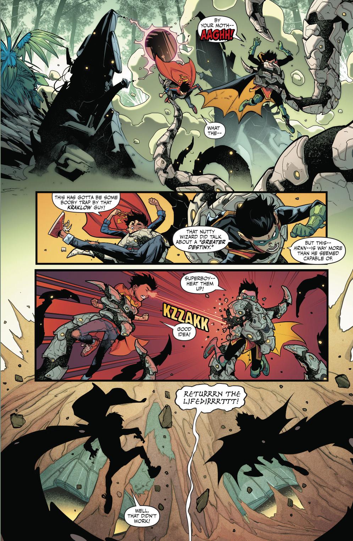 Superboy And Robin Meets Bugshot And Hardline