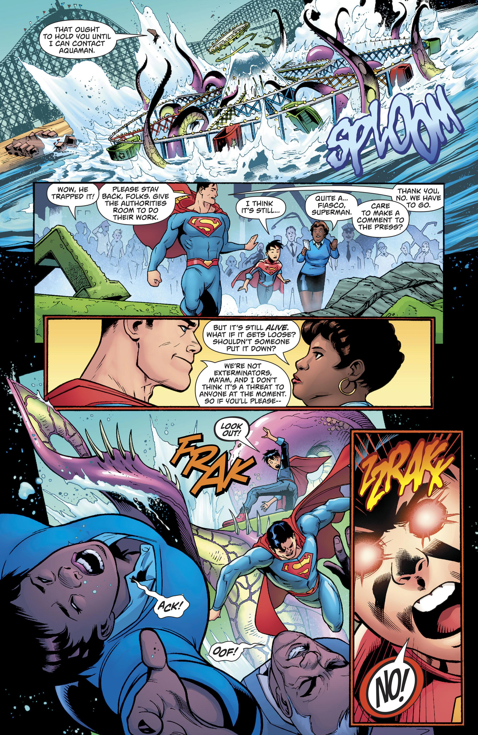 Superboy Kills A Giant Squid