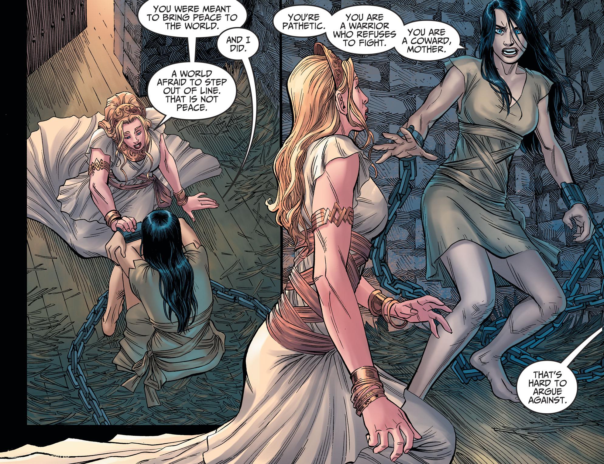 Antiope Betrays Queen Hippolyta (Injustice II)