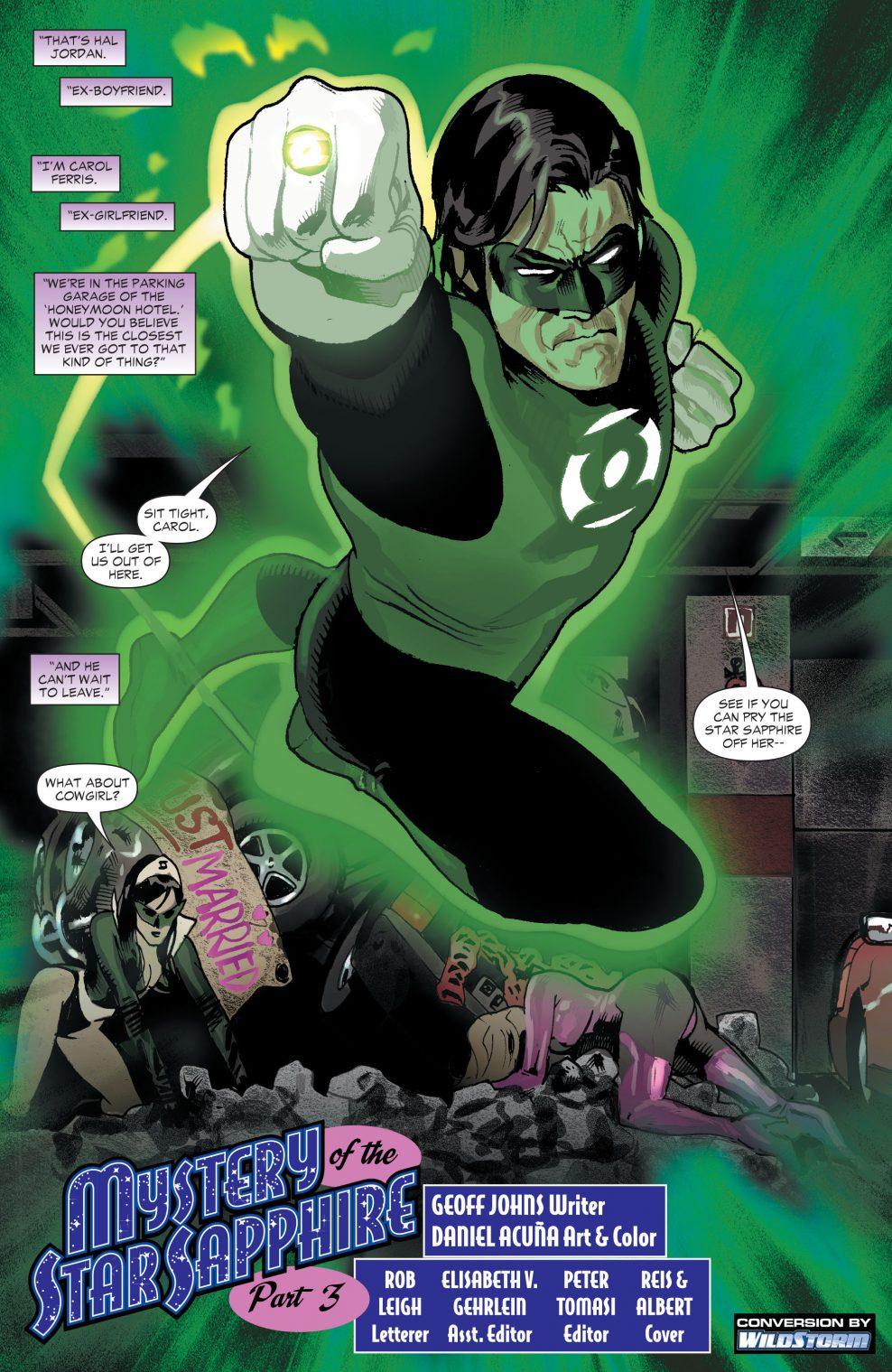 Green Lantern Hal Jordan VS The Zamarons