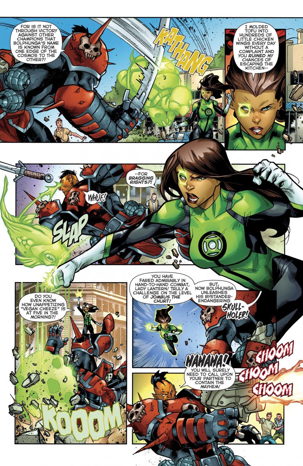 Green Lantern Jessica Cruz VS Bolphunga