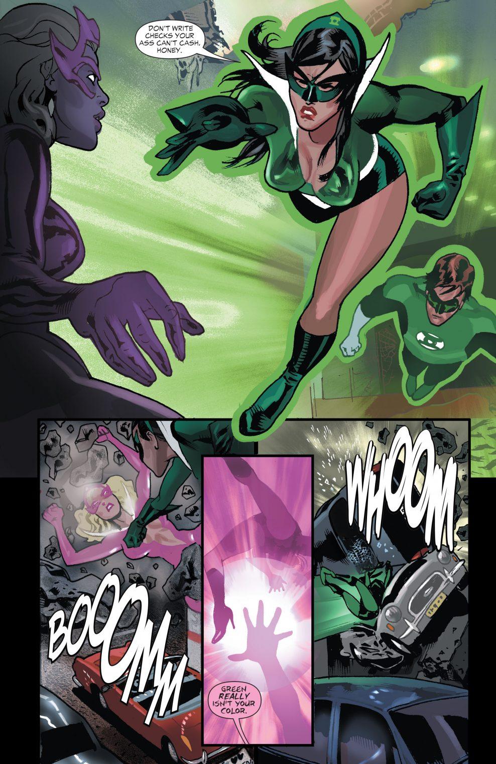Hal Jordan Creates A Green Lantern Suit For Carol Ferris