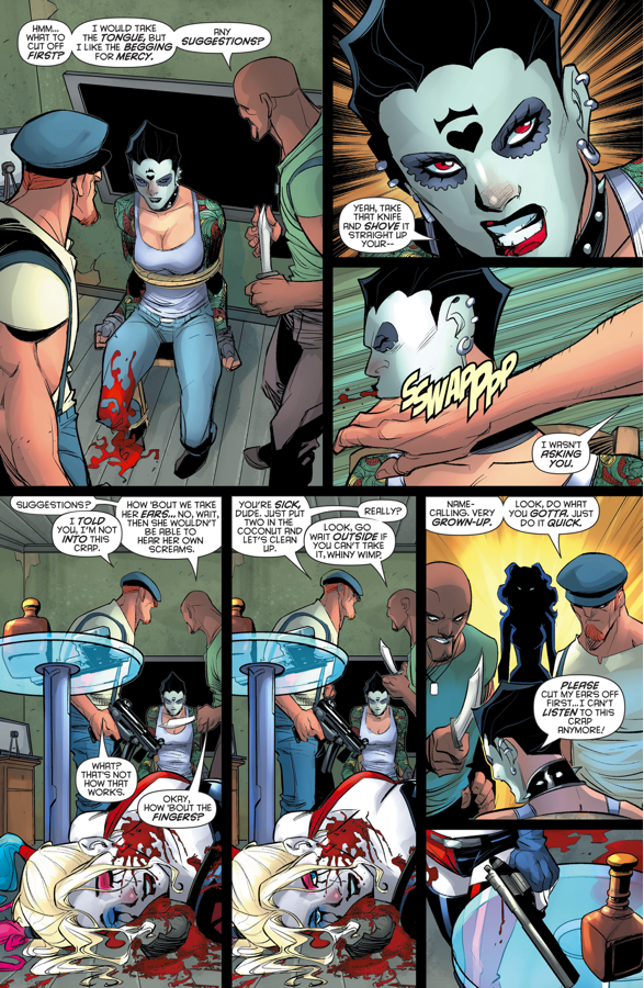 Harley Quinn Gets Shot In The Neck