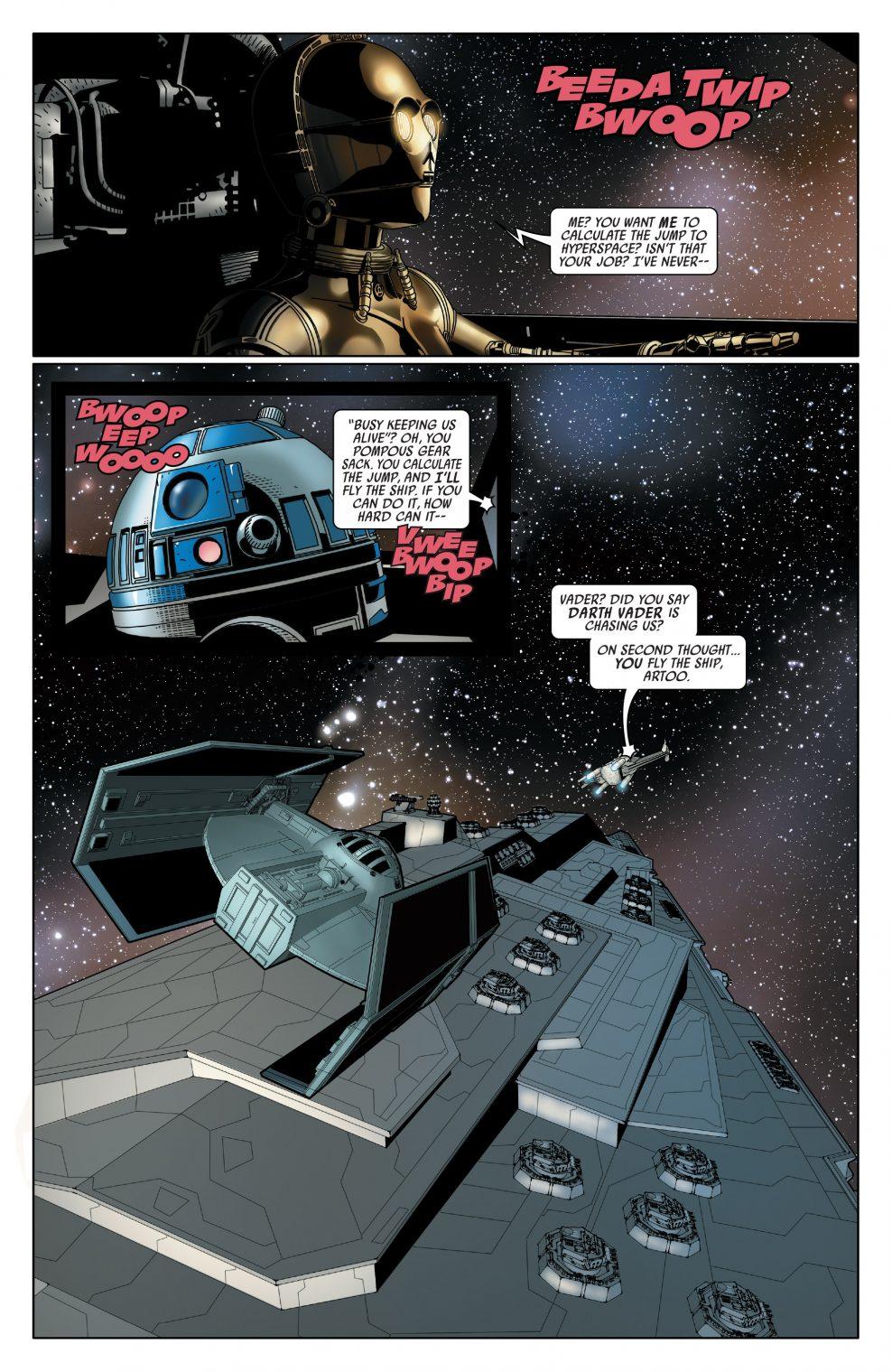 R2-D2 Flies Against Darth Vader