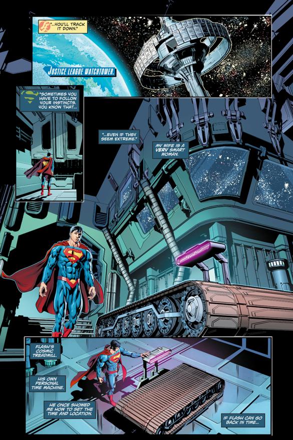 Superman Uses The Cosmic Treadmill (Rebirth)