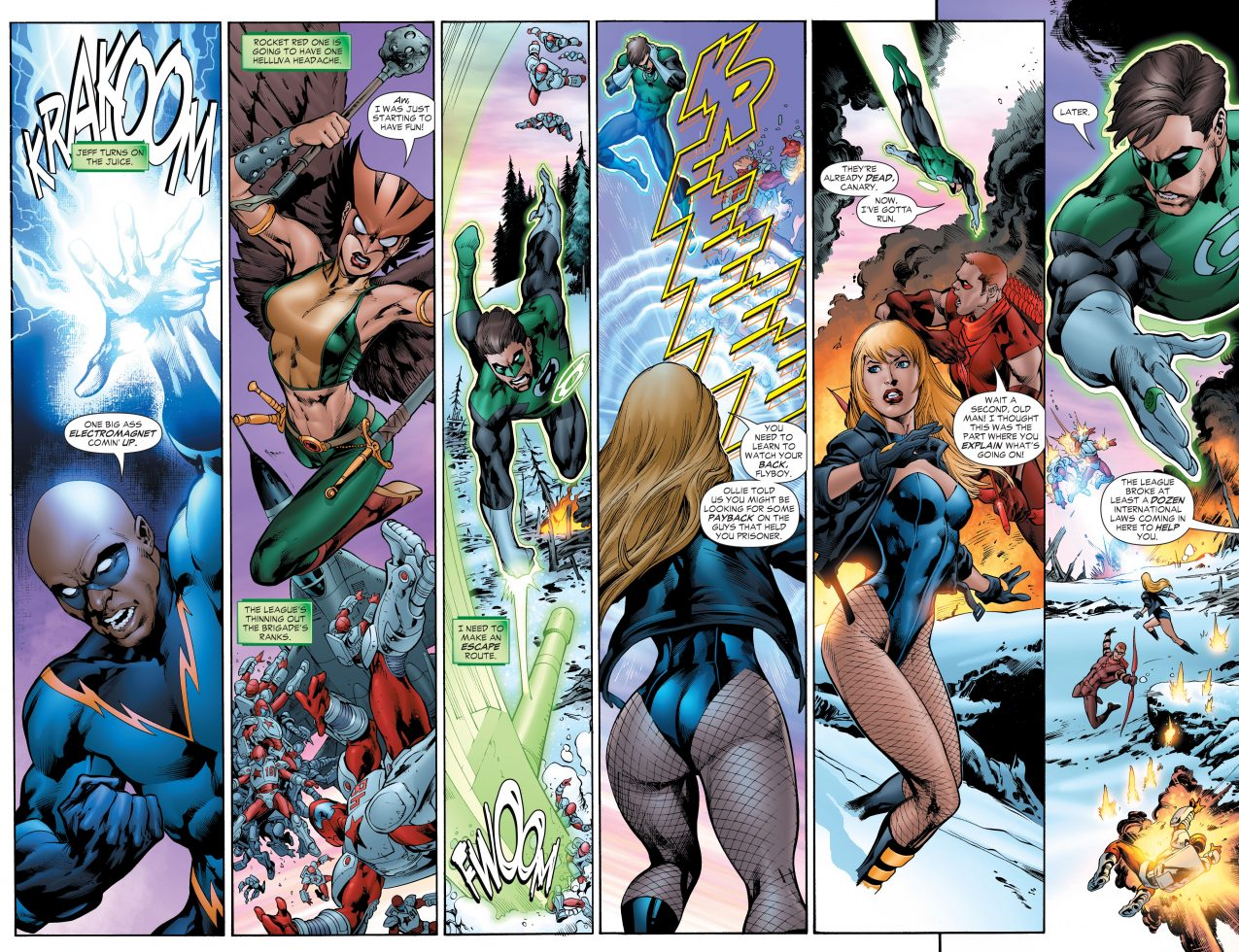 The Justice League VS The Rocket Red Brigade