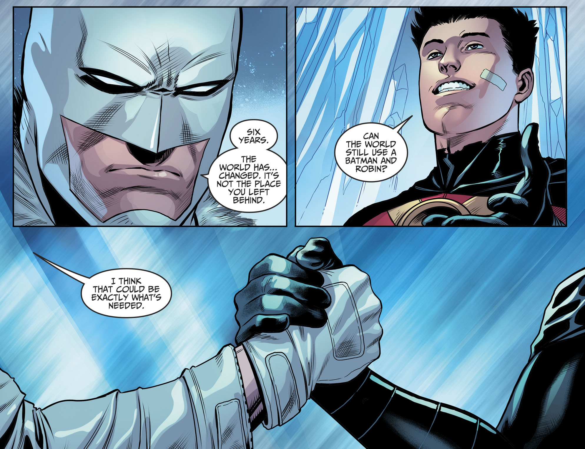 Batman And Red Robin Reunites (Injustice II)