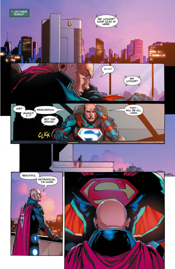 Lex Luthor Removes The S From His Armor