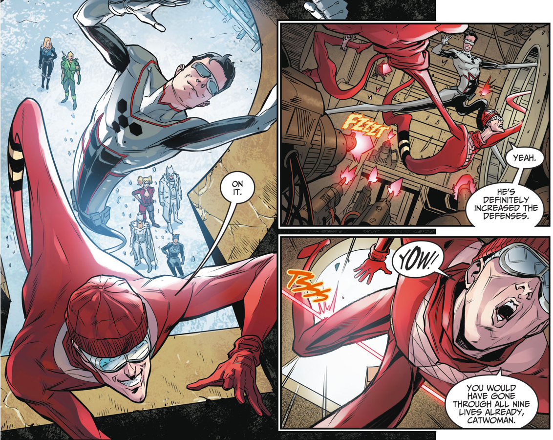 Plastic Man And Son Breaks Into The Fortress Of Solitude (Injustice II)