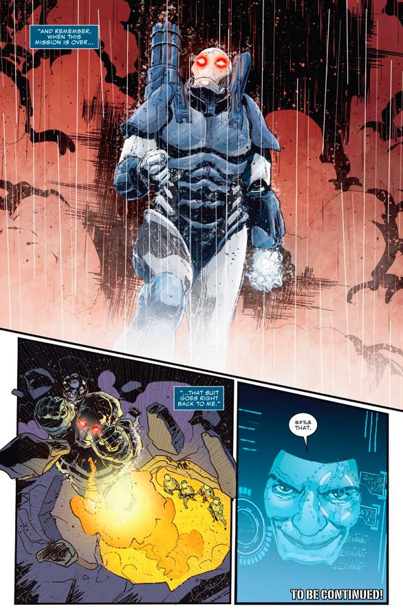 The Punisher Steals The War Machine Armor