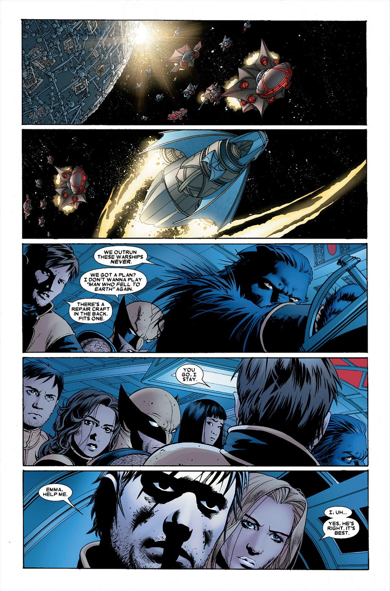 Breakworld Warships Kill Cyclops (Astonishing X-Men)