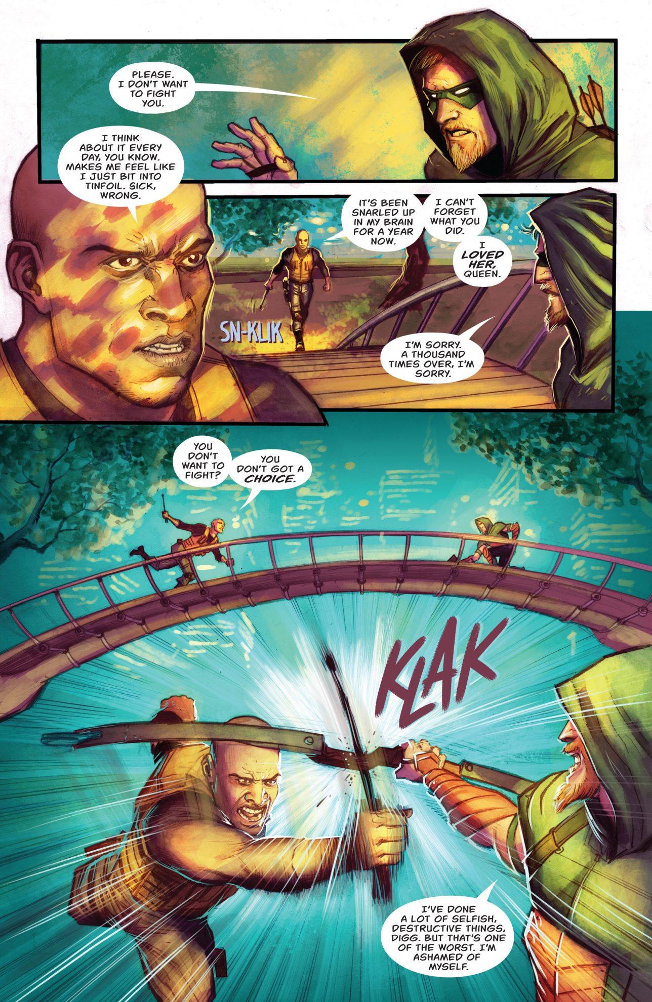 Green Arrow VS John Diggle (Rebirth)