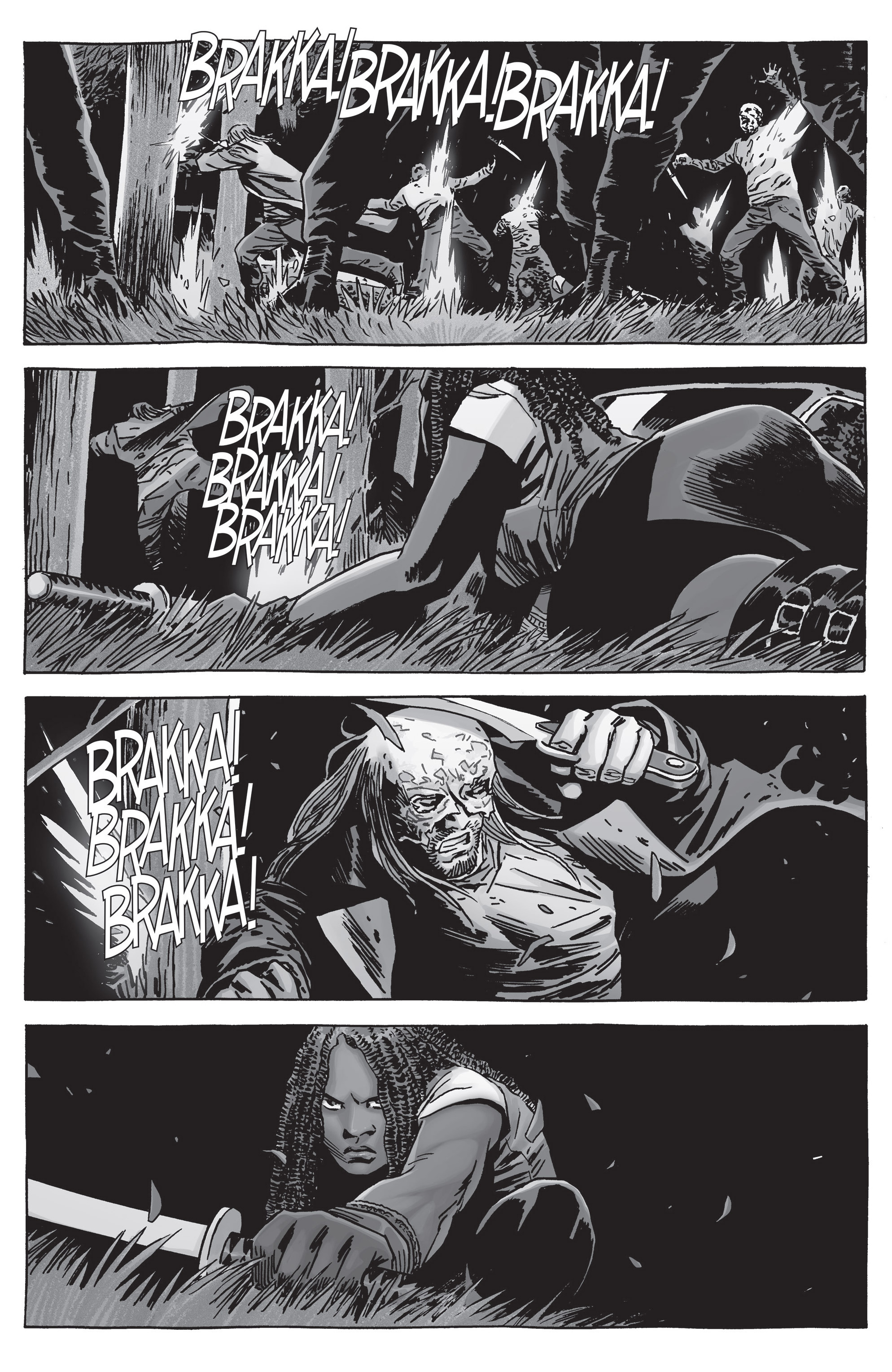 Michonne VS Beta (The Walking Dead)