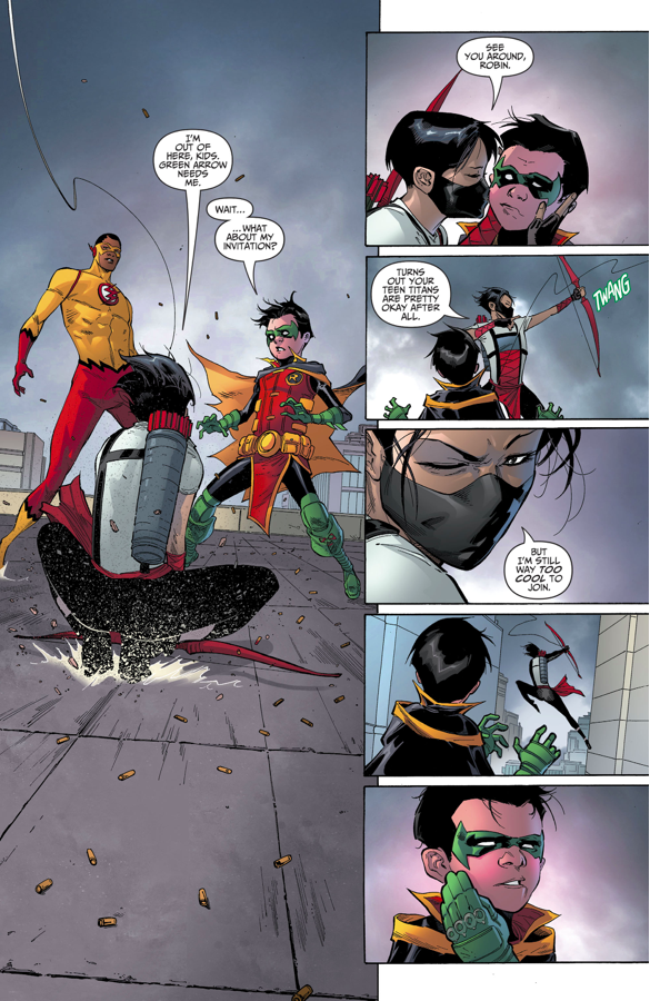 Red Arrow Kisses Robin (Rebirth)
