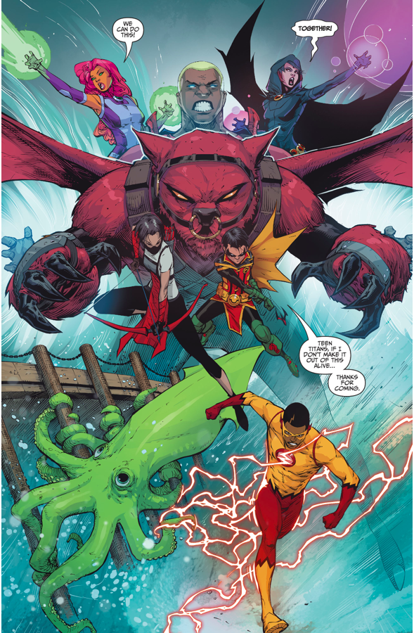 The Teen Titans Stop A Tidal Wave (Rebirth)