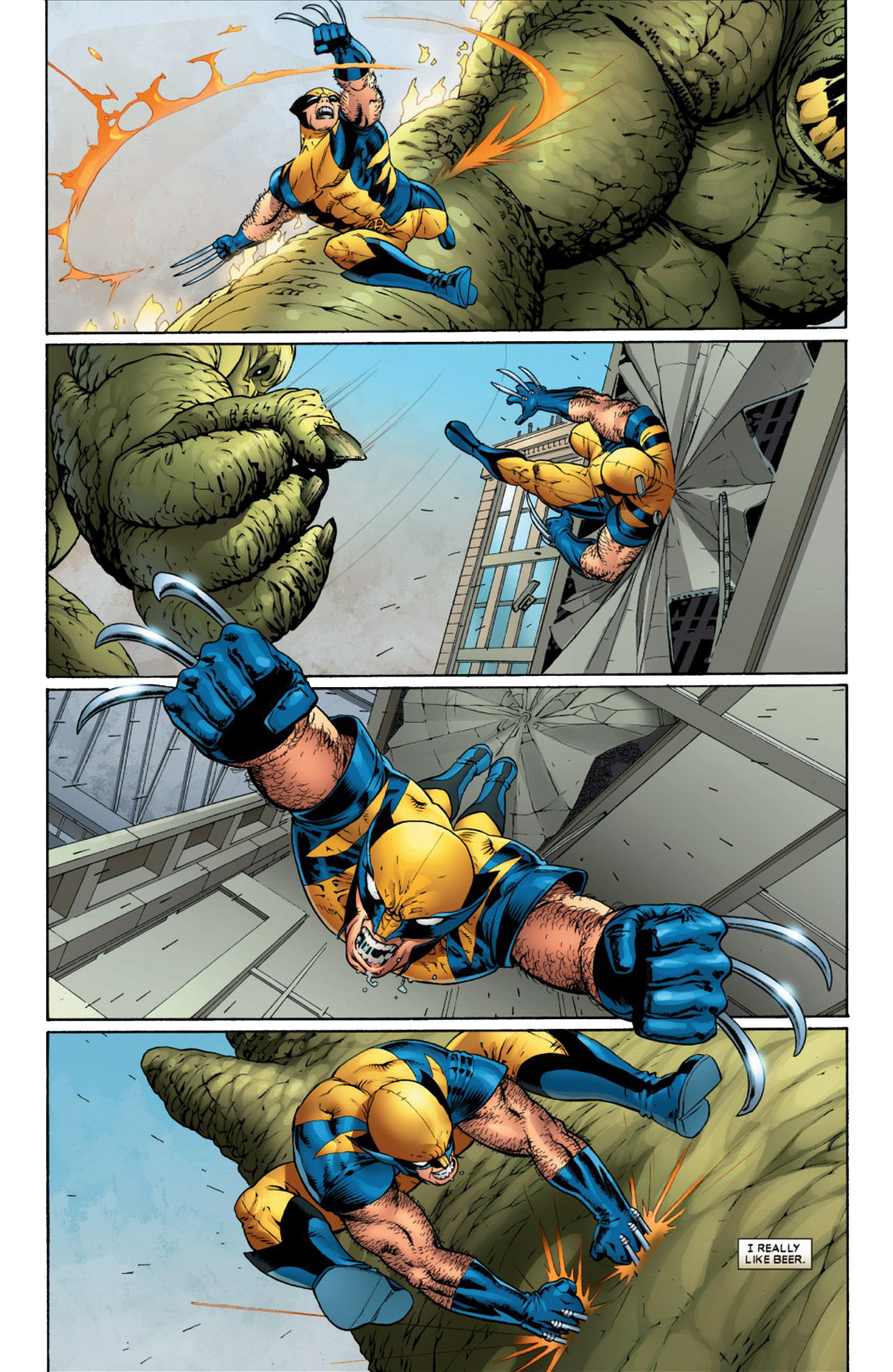 X-Men And Fantastic Four VS Moleman's Monster