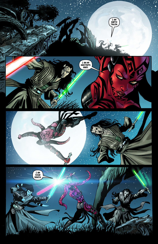 Darth Talon VS Shado Vao And Wolf Sazen