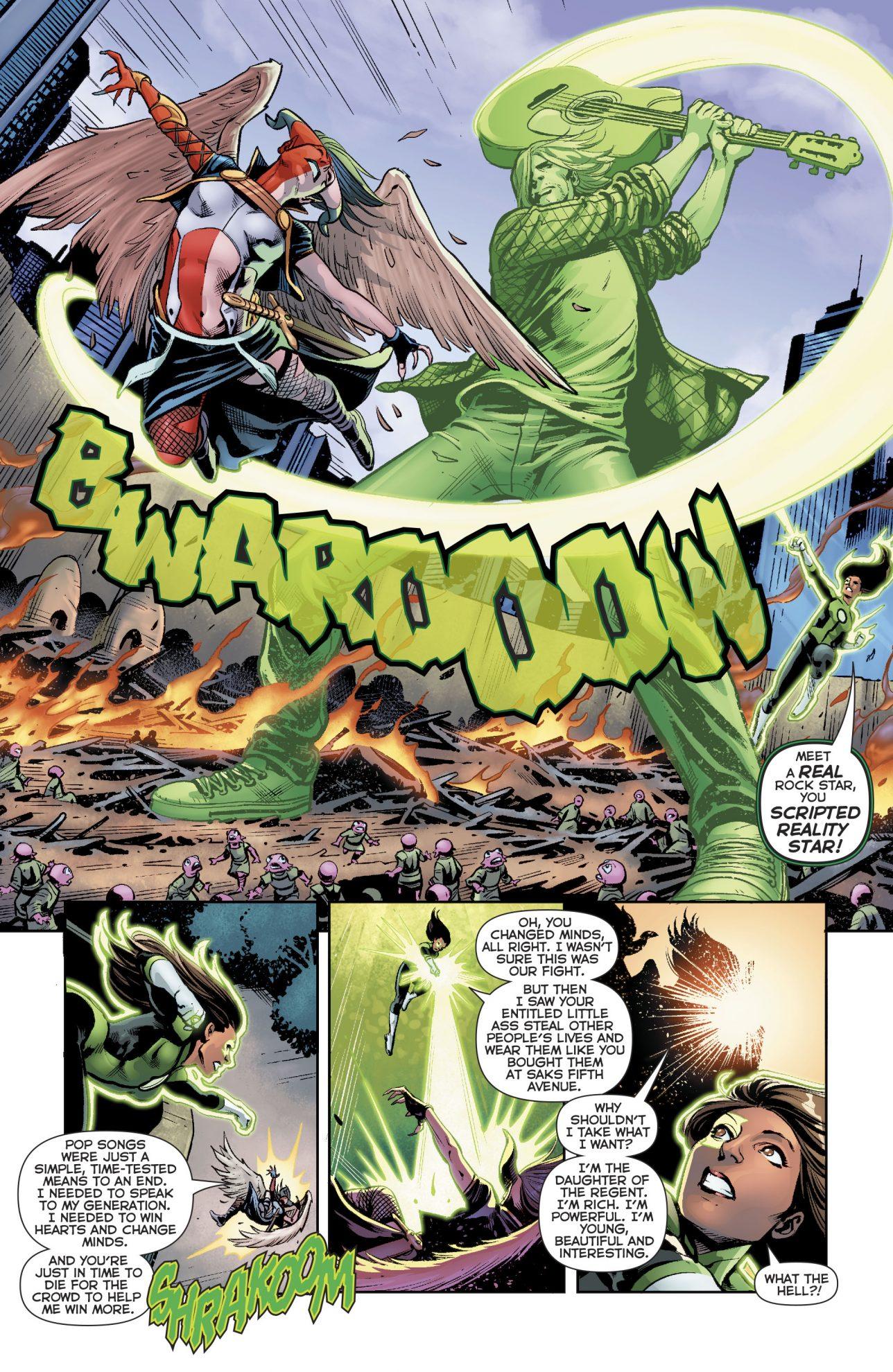 Green Lantern Jessica Cruz VS Liseth Vok