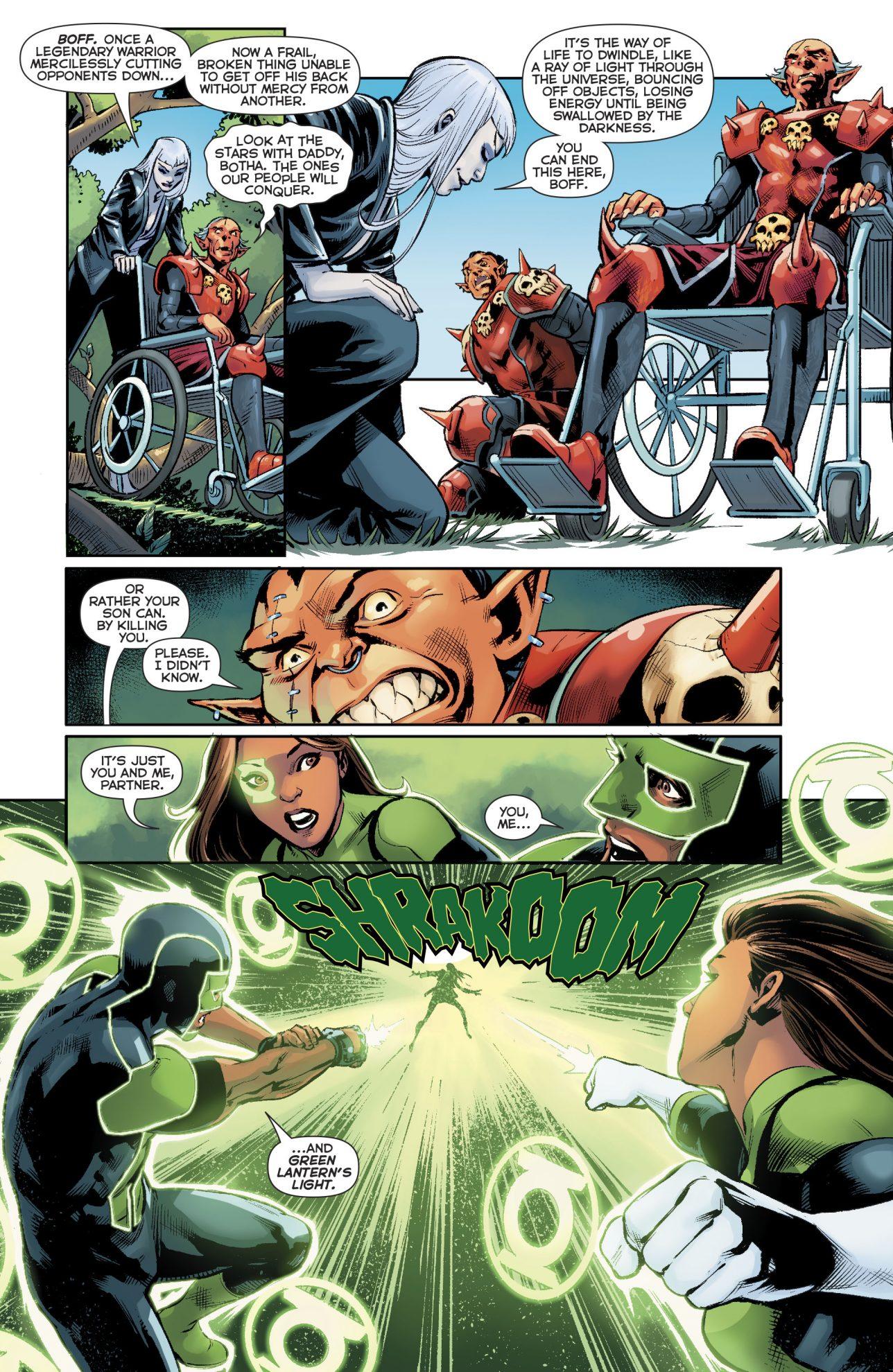 Green Lanterns Simon Baz And Jessica Cruz VS Singularity Jain