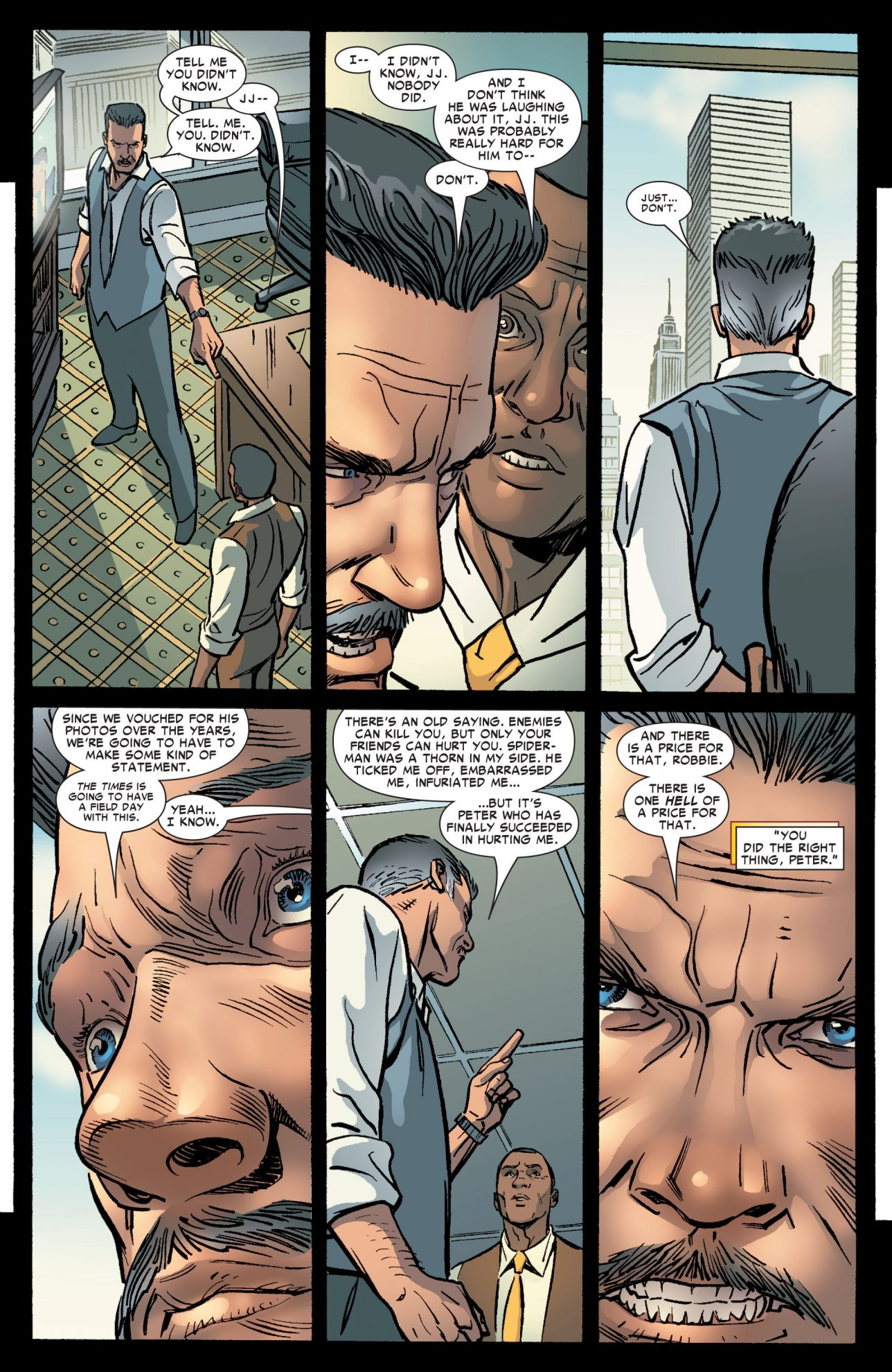 J Jonah Jameson Learns Peter Parker Is Spider-Man