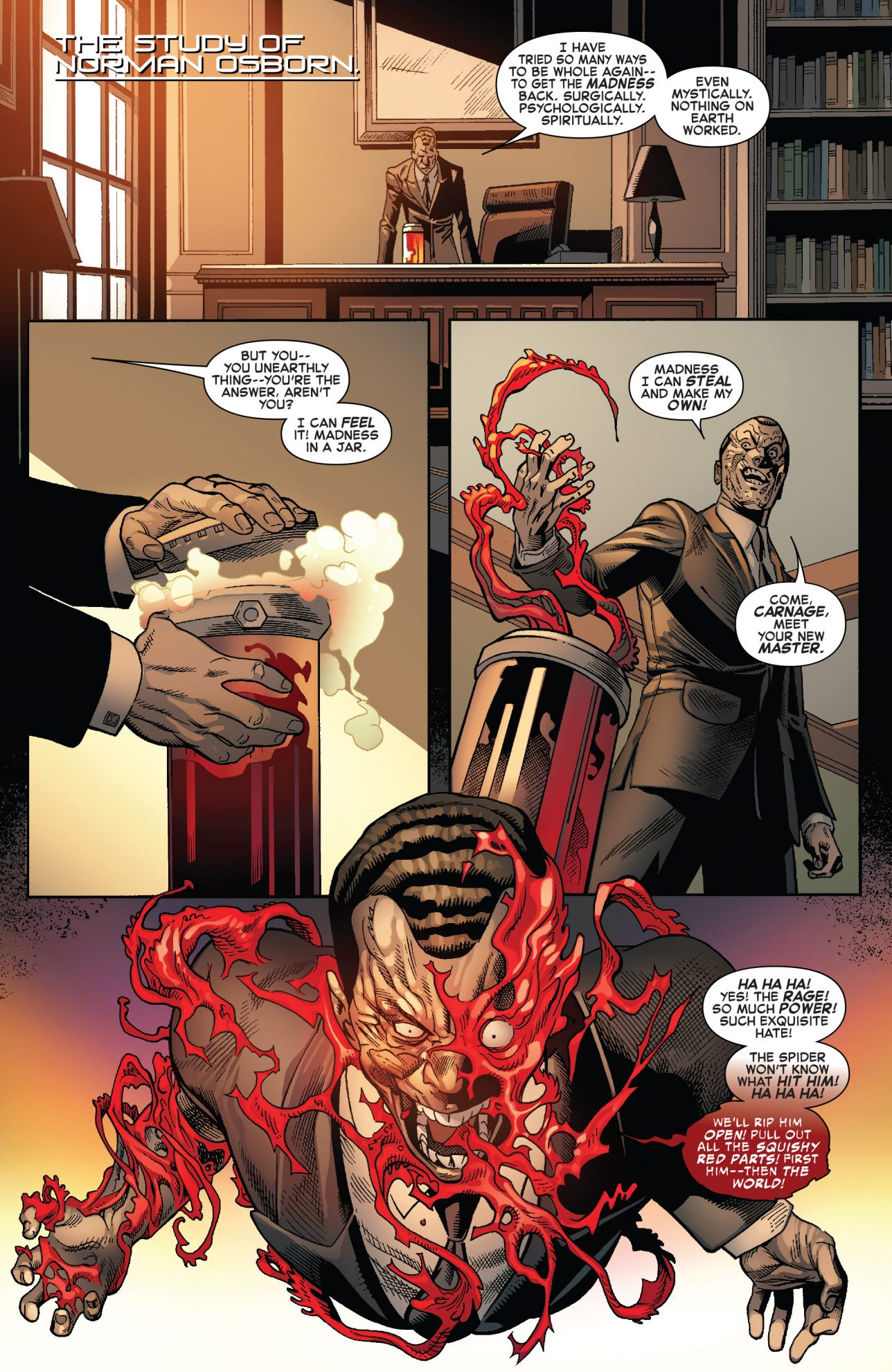 Norman Osborn Becomes The Red Goblin