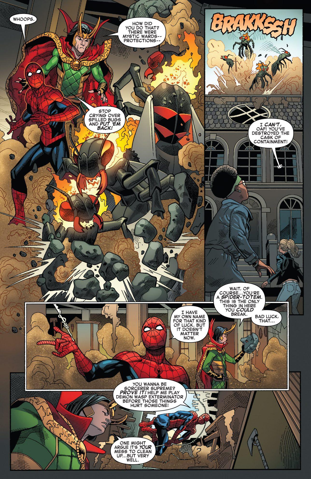 Spider-Man And Sorcerer Supreme Loki Team Up