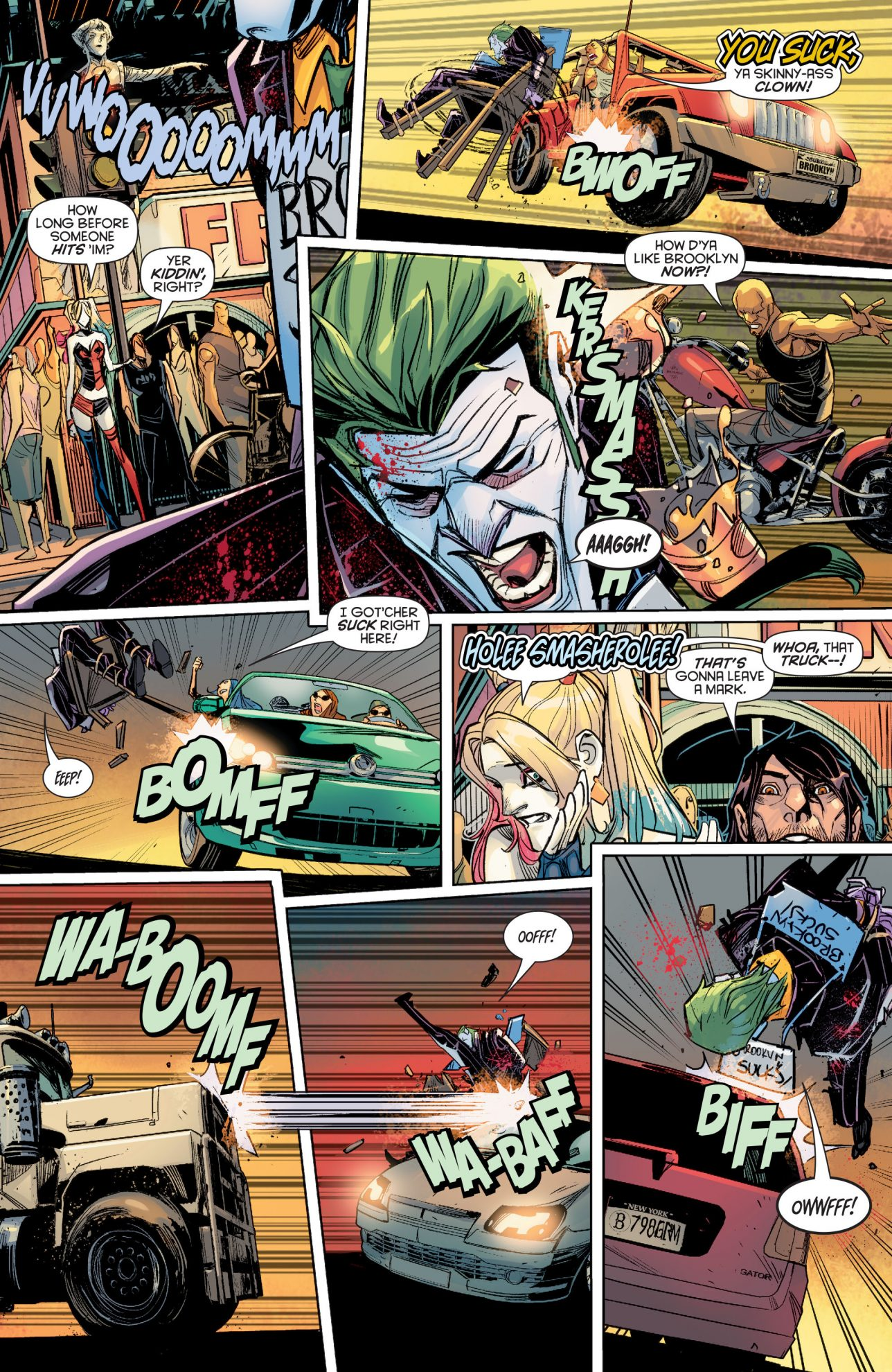 Brooklyn Kicks The Joker's Ass